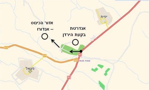 מפה למרוץ האנדורו בקעת הירדן